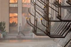 Seimas宫殿喷泉在维尔纽斯 库存图片