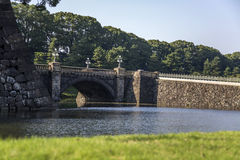 Seimon Ishibashi bridge at Imperial Palace in Tokyo Stock Image