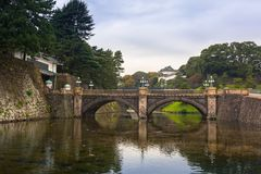 Seimon stonebridge to the Imperial Palace in Tokyo Royalty Free Stock Image