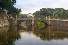 Seimon stonebridge to the Imperial Palace in Tokyo Royalty Free Stock Images