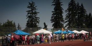 Sein chinesisches Festival im Central Park Burnaby Kanada lizenzfreie stockfotografie