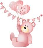 Sein ein Mädchen Teddy Bear Lizenzfreie Stockfotografie