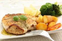 Sein rôti de poulet Photos stock