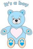 Sein Teddybär ein Junge Lizenzfreies Stockbild