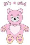 Sein Teddybär ein Mädchen Stockfotografie