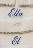Sein und ihrs Tücher auf spanisch lizenzfreie stockbilder