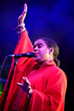Seinabo Sey (soul pop singer signed to Universal Music label) performs at Barcelona Accio Musical (BAM) Stock Images