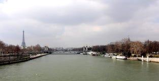 The Seine and Alexander III bridge Royalty Free Stock Photography