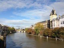 The Seine. Beautiful day on the Seine. Paris, France Stock Photos
