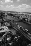 Seine in Black and White Royalty Free Stock Image