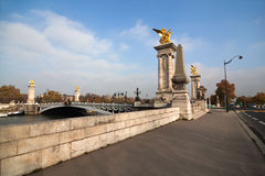 Seine bridge Pont Alexandre III Royalty Free Stock Photo