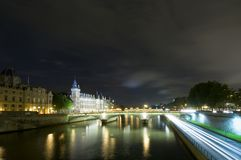 Seine Bridges in Paris Stock Image