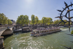 On Seine Cruise Royalty Free Stock Photography