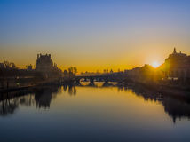 The Seine at dawn Royalty Free Stock Image