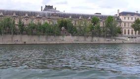 Seine de rivière de Paris clips vidéos