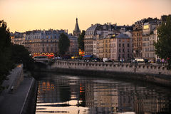 Seine embankment Royalty Free Stock Images