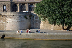 Seine embankment. Royalty Free Stock Images