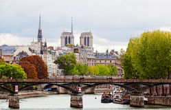 Seine Embankment in Paris Royalty Free Stock Photo