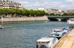 Seine-Fluss, Paris, Frankreich Lizenzfreies Stockbild