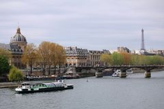 The Seine in the city of Paris, France royalty free stock images