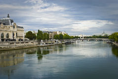 Seine and Museum d'Orsay Royalty Free Stock Photography