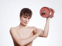 Seine Muskeln Lizenzfreie Stockfotografie