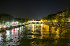 Seine night view Royalty Free Stock Images