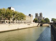 The Seine of Notre Dame de Paris Stock Photography