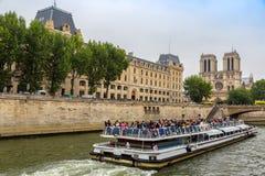 Seine and Notre Dame de Paris Royalty Free Stock Image