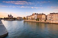 Seine and Notre Dame, Paris. Stock Image