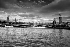 Seine - Paris Arkivfoto