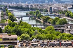 Seine in Paris Royalty Free Stock Photos