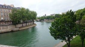 The Seine in Paris, France. stock photo
