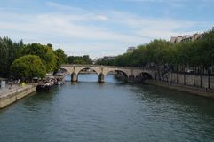The Seine in Paris - France - Europe.  Royalty Free Stock Images