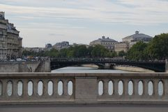 The Seine in Paris - France - Europe.  Royalty Free Stock Photo
