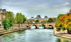 The Seine and Pont Neuf bridge in Paris - France Royalty Free Stock Photography