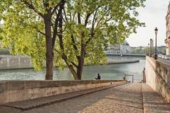 Seine Quay. Paris Royalty Free Stock Image