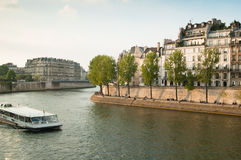 Seine Quay. Paris Royalty Free Stock Images