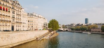 Seine Quay. Paris Royalty Free Stock Photos