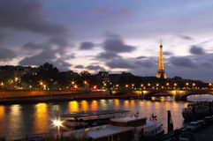 Seine river from Alexander III bridge Royalty Free Stock Photo