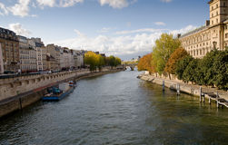 Seine River in autumn Royalty Free Stock Photography