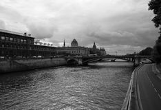 Seine river and bridge Stock Image