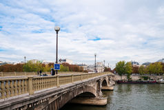 Seine river and Bridge in Paris Royalty Free Stock Photo