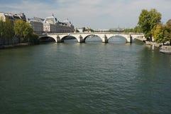 Seine River Bridge Royalty Free Stock Image