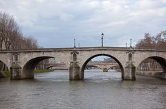 Seine River with Bridges Royalty Free Stock Photography