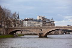 Seine River with Bridges Royalty Free Stock Photo