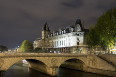 Seine River buildings Royalty Free Stock Image