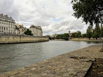 Seine river and builings in Paris France
