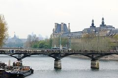 The Seine River in the city of Paris, France stock photo