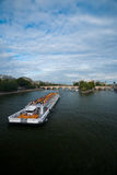 Seine River Cruise Ship Paris V Stock Photos
